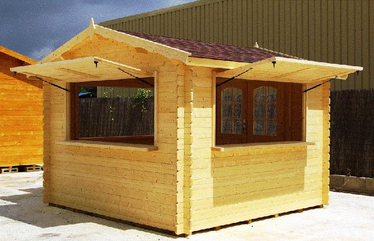 Venta de caseta de madera modelo kiosco for Casetas de jardin de madera