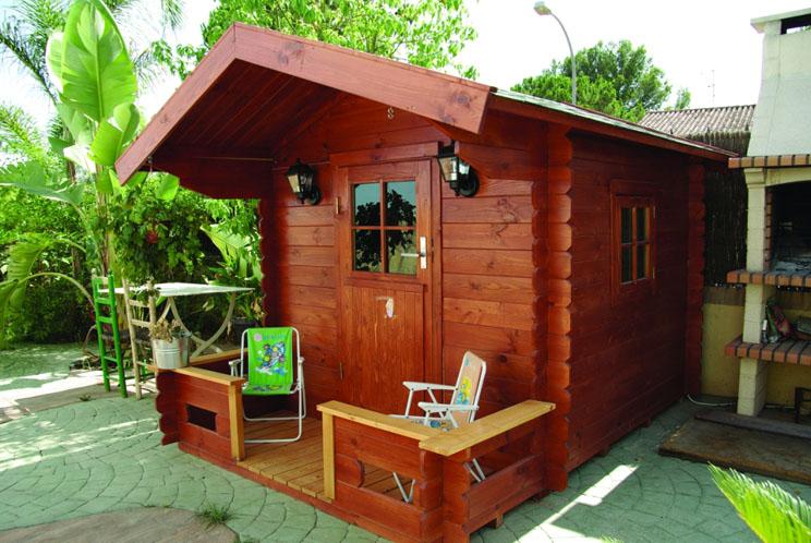 Venta de casitas de madera infantil modelo pepe for Caseta de madera para jardin