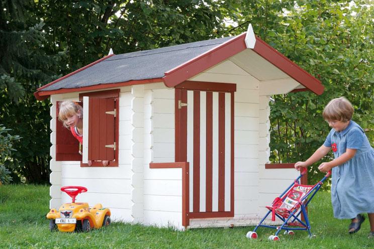 Venta de casitas de madera infantil modelo susana for Casitas de jardin para ninos