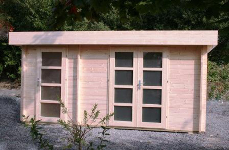 venta de casetas de madera de techo plano modelo orienta 4 On planos caseta jardin