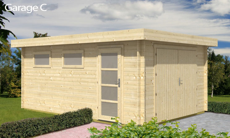 Venta de garaje de madera modelo c for Garajes modelos